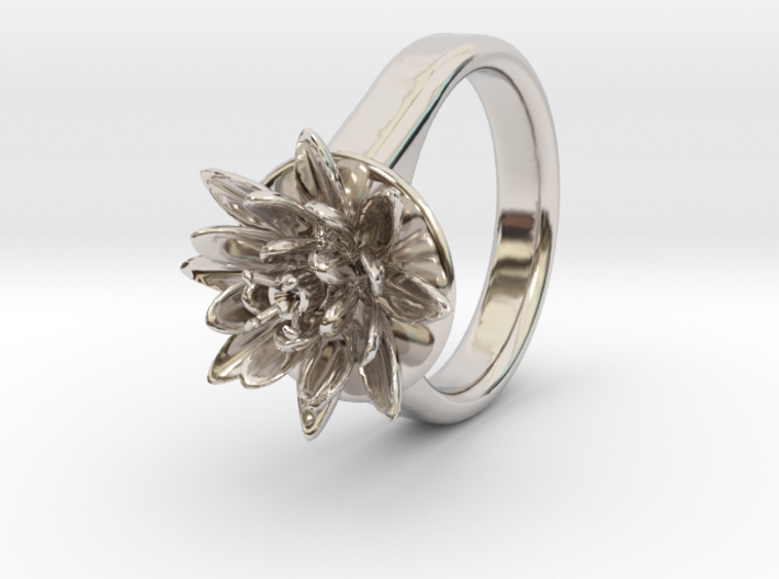 Lotus Ring For Diamond 6 Mm Fit Ø21 Mm 3d printed