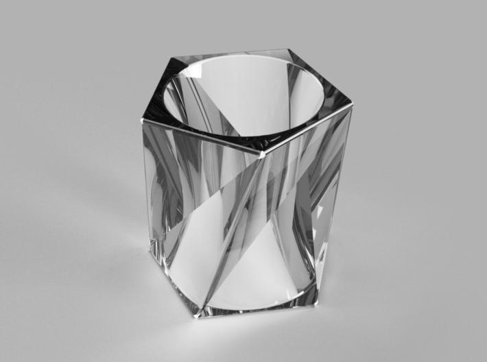 Twisting Futaoki (pentagon) 3d printed