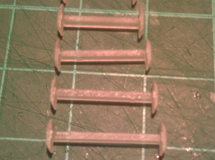N Scale 10mm Fixed Coupling Drawbar x6 3d printed Range of Couplings - 9mm to 14mm