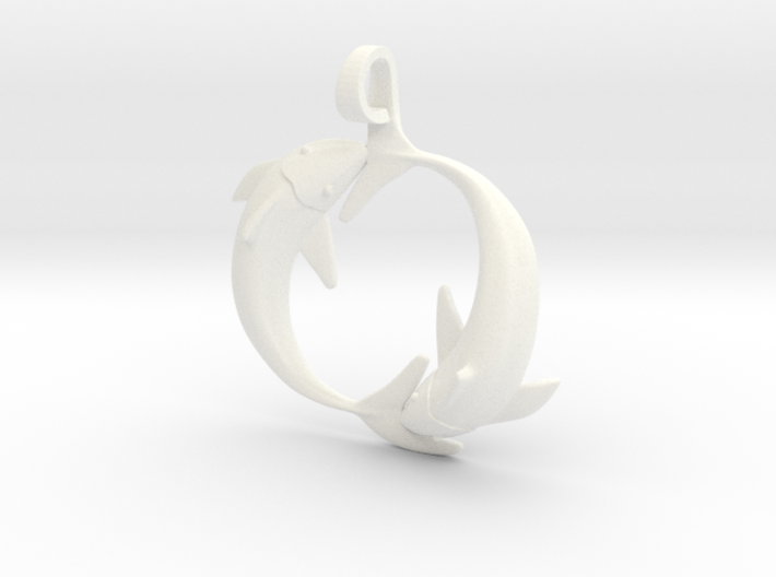 Pisces Zodiac Pendant 3d printed