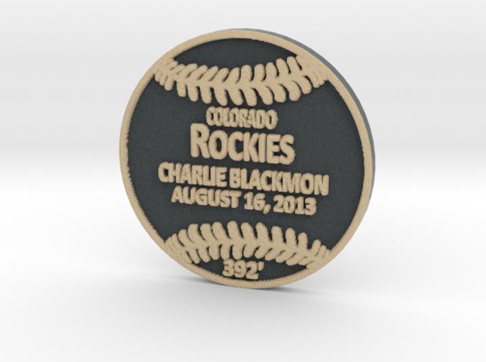 Charlie Blackmon 3d printed