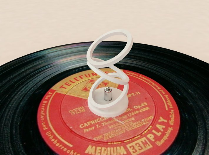 45 Rpm Adaptor optical illusion 3d printed