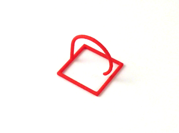 Square ring shape. 3d printed