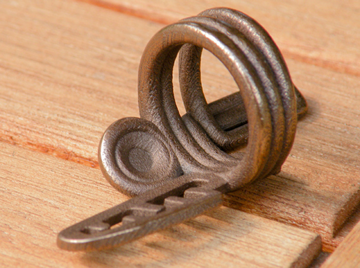 Balem's Ring3 - US-Size 4 (14.86 mm) 3d printed Ring 3 in polished bronze steel (shown: size 10)