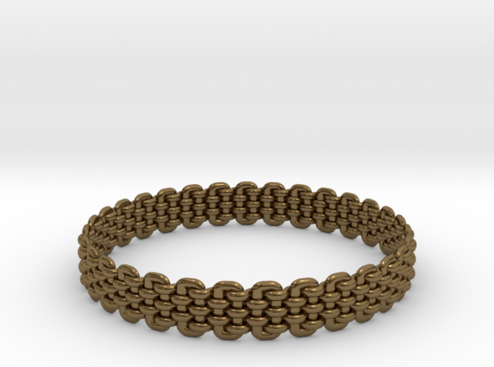 Wicker Pattern Bracelet Size 7 or USA Small Size 3d printed