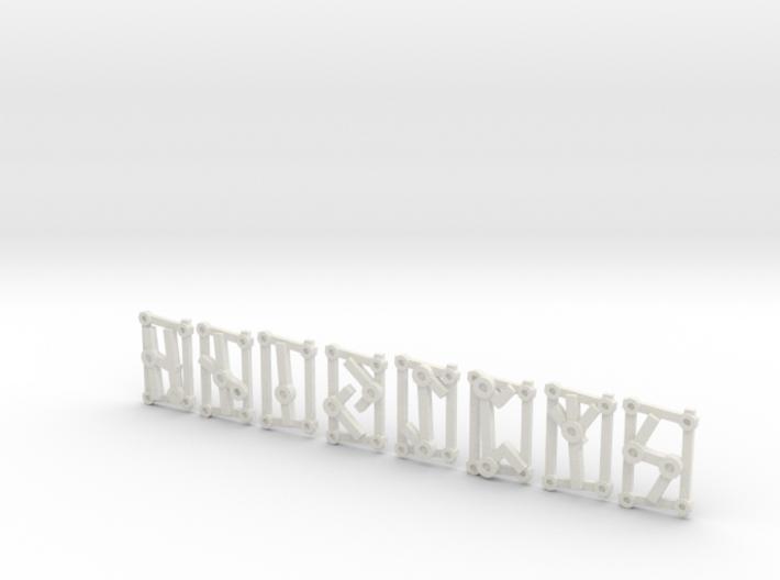 Small Aett 2 - Futhark Runes - 8 of 24 3d printed