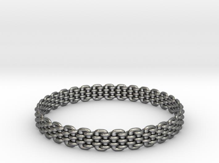Wicker Pattern Bracelet Size 12 3d printed