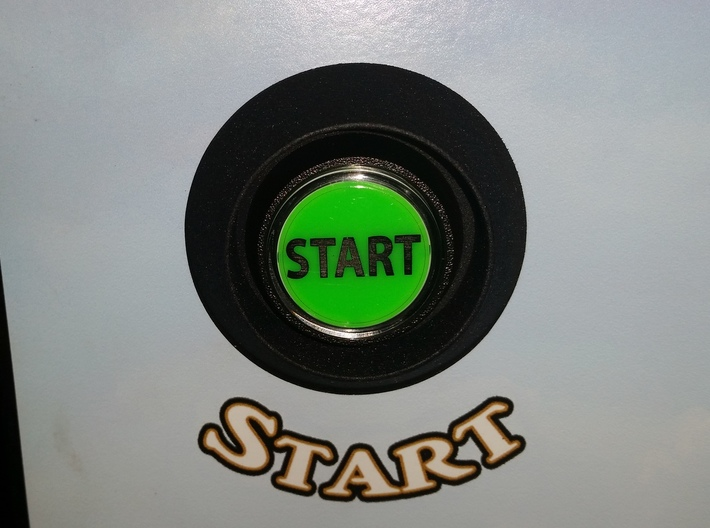 WOZ Start Button Guard 3d printed