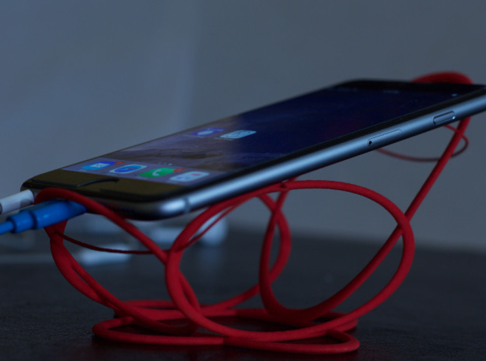 Space Cradle for Phones, E-Readers, and Tablets 3d printed iPhone6+