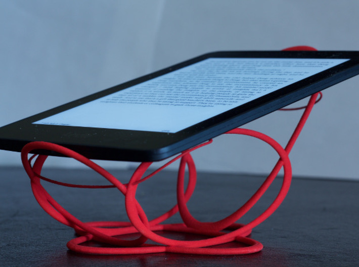 Space Cradle for Phones, E-Readers, and Tablets 3d printed Kindle