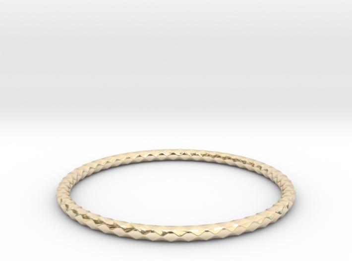Diamond Pattern Bracelet USA Size Large 3d printed