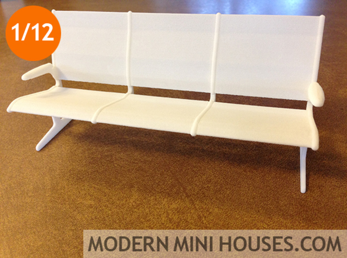 Eames Tandem Sling Airport Chairs 1:12 scale 3d printed