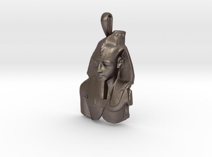Steel Ramesses II, Ozymandias pendant 3d printed
