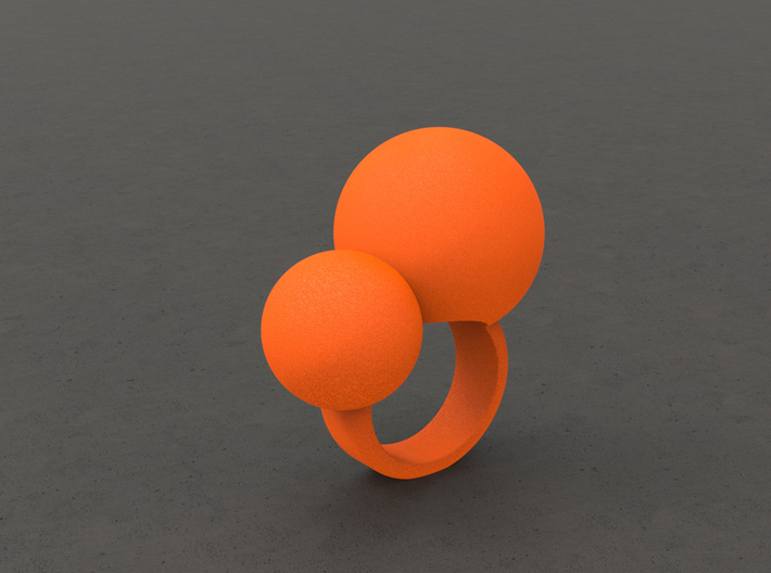 """BUBBLES""_Women ring 3d printed"