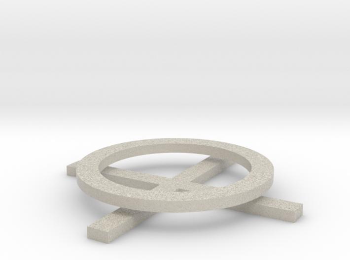 XO Coasters 3d printed
