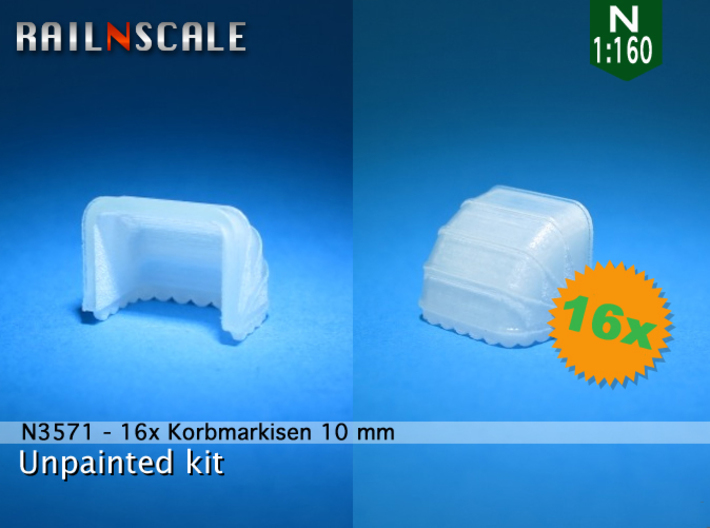 16x Korbmarkise 10 mm (N1:160) 3d printed