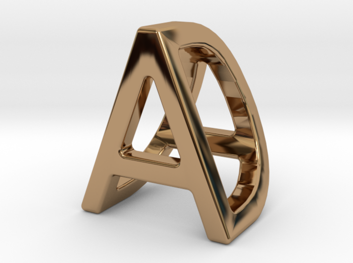 AD DA - Two way letter pendant 3d printed