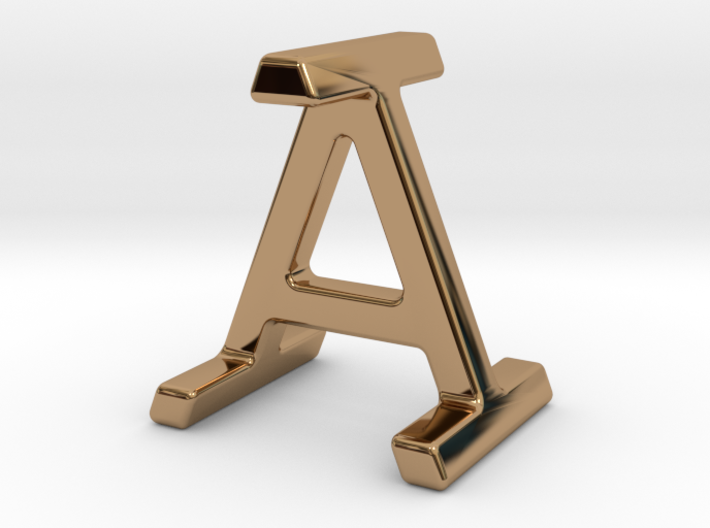 AI IA - Two way letter pendant 3d printed