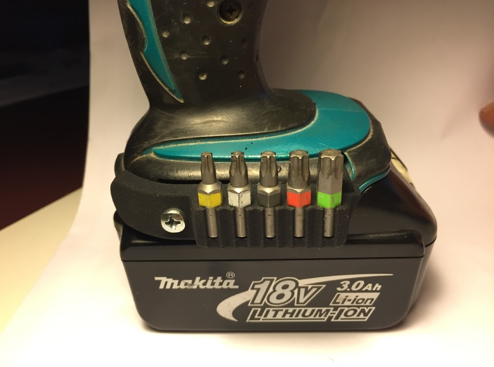 Makita Bit Holder 3d printed in use