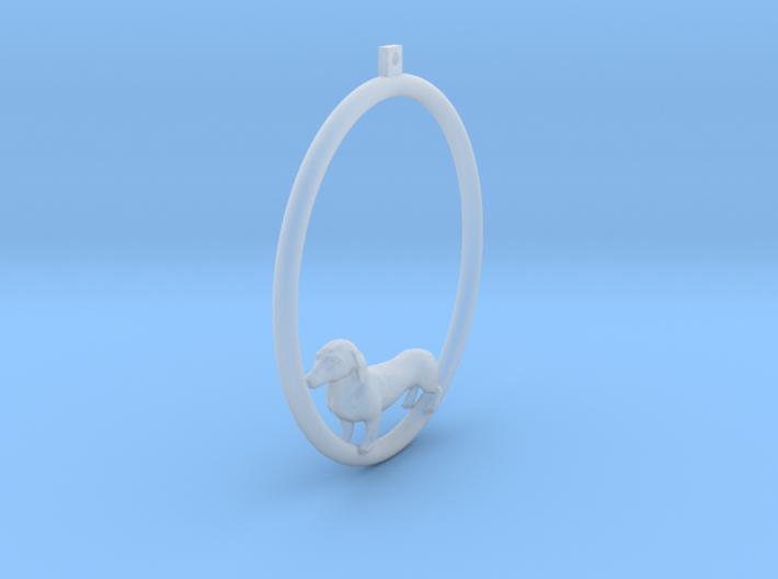 Dachshund Hoop Earring 3d printed