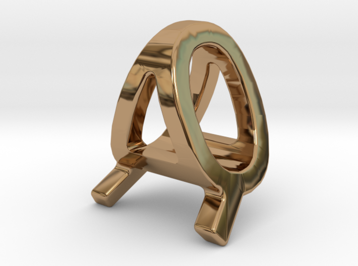 AQ QA - Two way letter pendant 3d printed