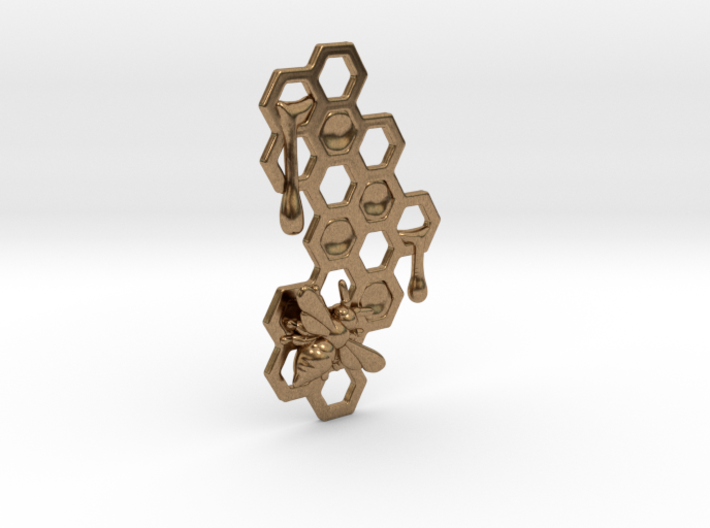 Honey Comb Charm 3d printed