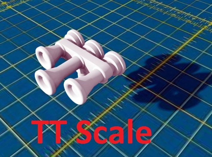 Locomotive 3 Chime Horns Type 3-1 & 3-2 TT Scale 3d printed
