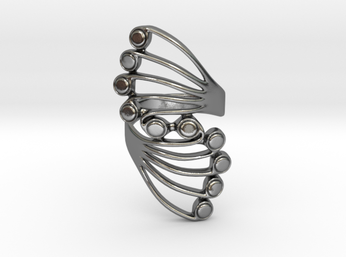 Butterfly Wing Ring Size 7 3d printed