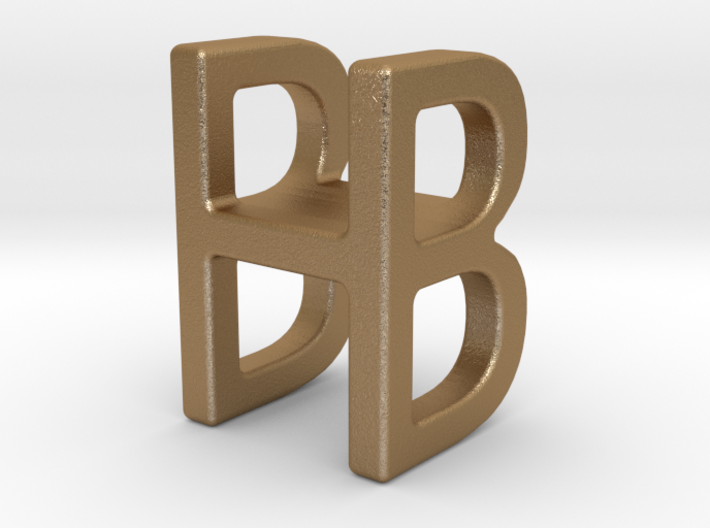 Two way letter pendant - BH HB 3d printed