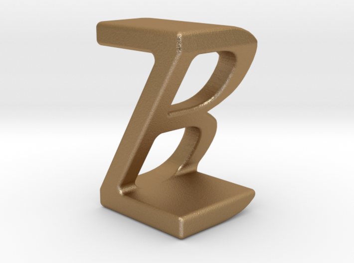 Two way letter pendant - BZ ZB 3d printed