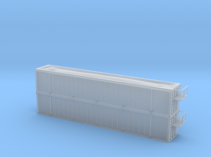 Trash Gondola Double Stack 53foot - HOscale 3d printed