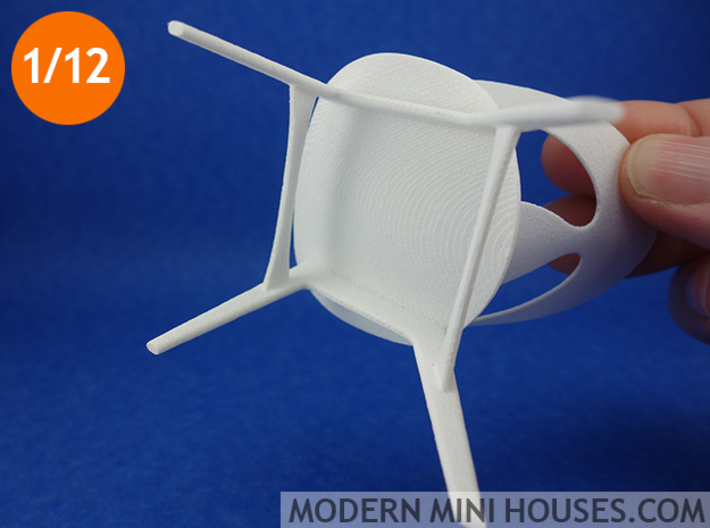 Erhard Rasmussen Shell Chair 1:12 scale 3d printed