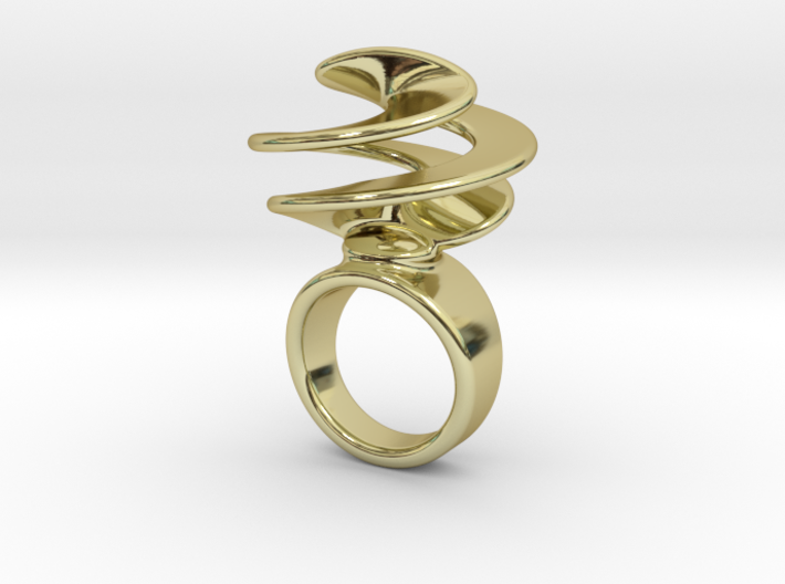 Twisted Ring 30 - Italian Size 30 3d printed