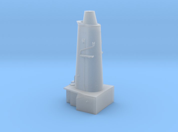HMAS Vampire 1/350 Forward Funnel Block 3d printed