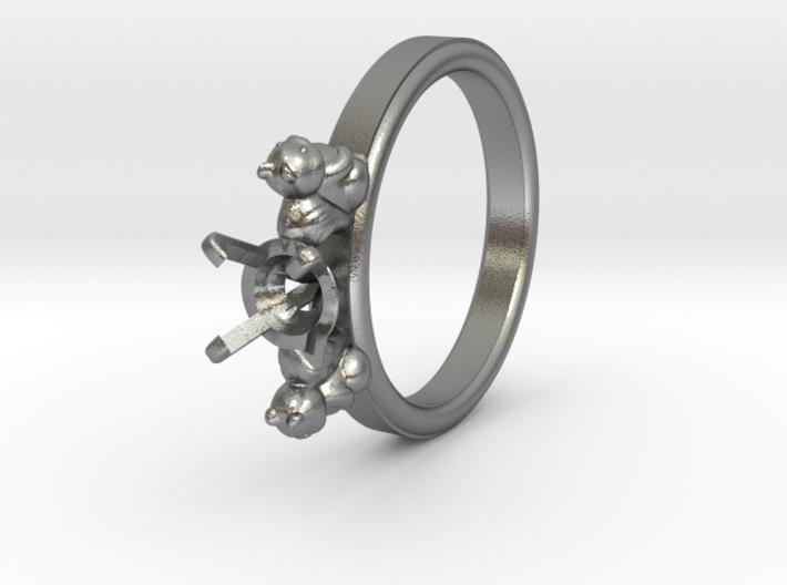 Squirrel Ø16.60 Mm Diamond Ring Ø5.9 Mm Fit 3d printed