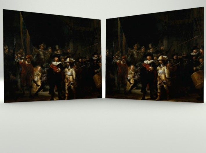 The Night Watch (Rembrandt) 3d printed