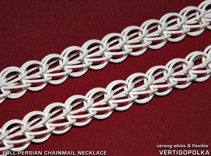 Full-Persian Chainmail Necklace 3d printed