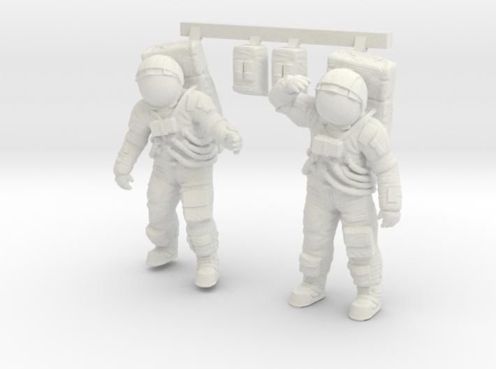 1: 48 Apollo Astronaut a7lb Type / Set l 3d printed