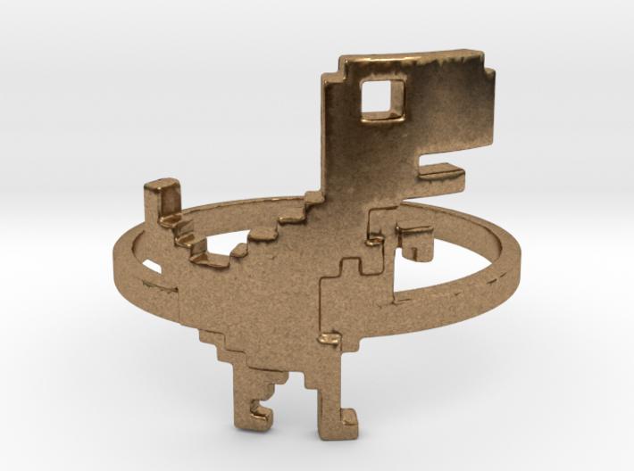 8-Bit T-rex Ring 3d printed