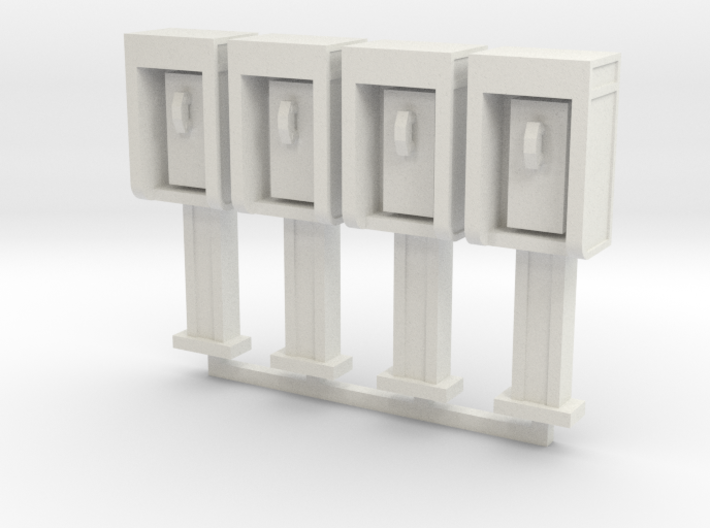 Phone Booth in HO Scale, 4 pack 3d printed