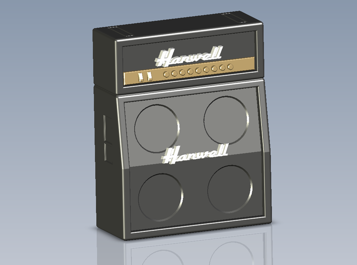Hanwell (Marshall) Quad Speaker - Amp Knob Set 3d printed