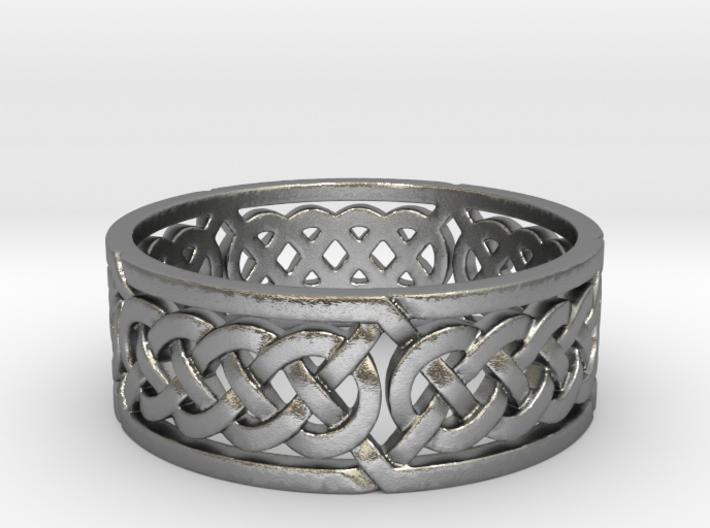 Celtic Quad Knot Ring 3d printed