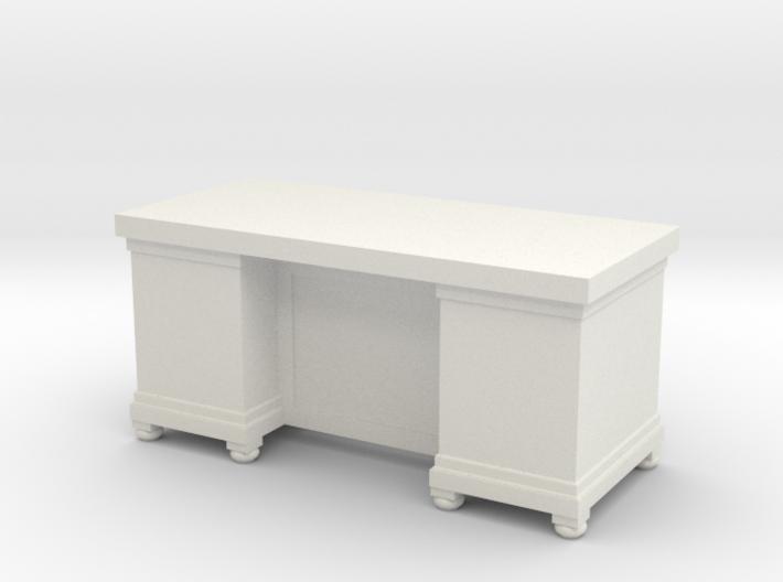 Miniature 1:48 LBJ Presidential Desk 3d printed