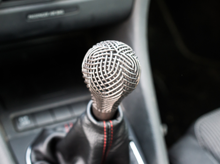 Woven Gear Shifter Knob 3d printed