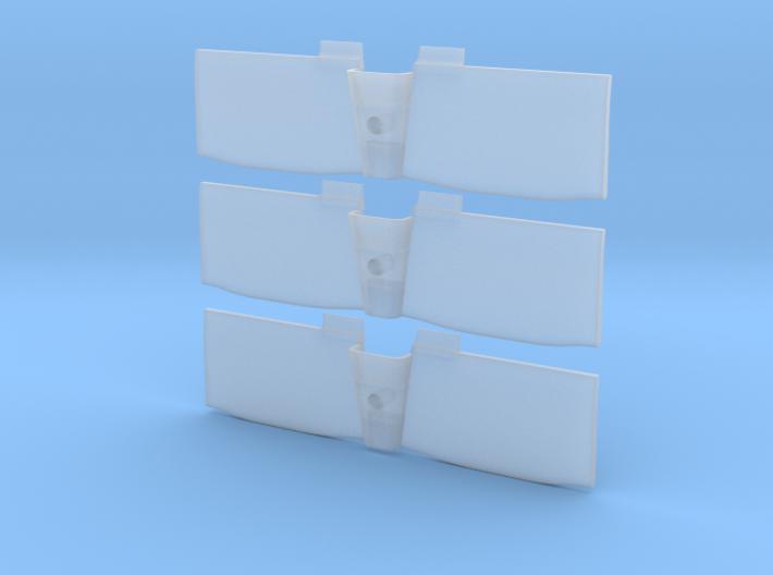 3x 1-18 Dallara RC Front Wing 3d printed