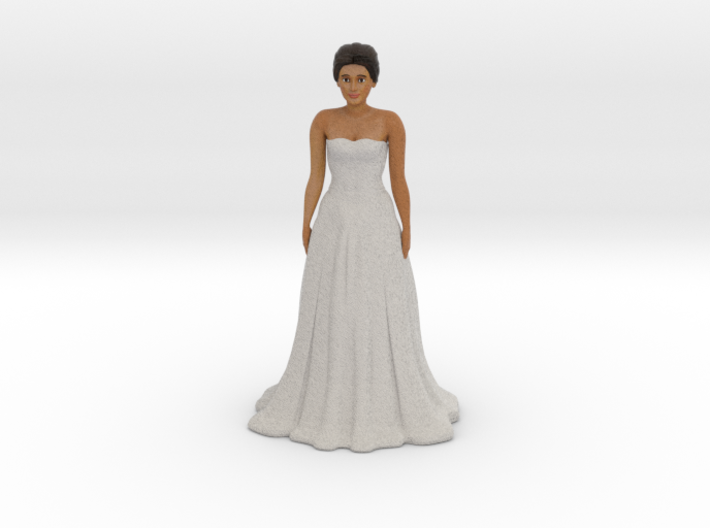 Tan Brunette Bride (v.1) 3d printed