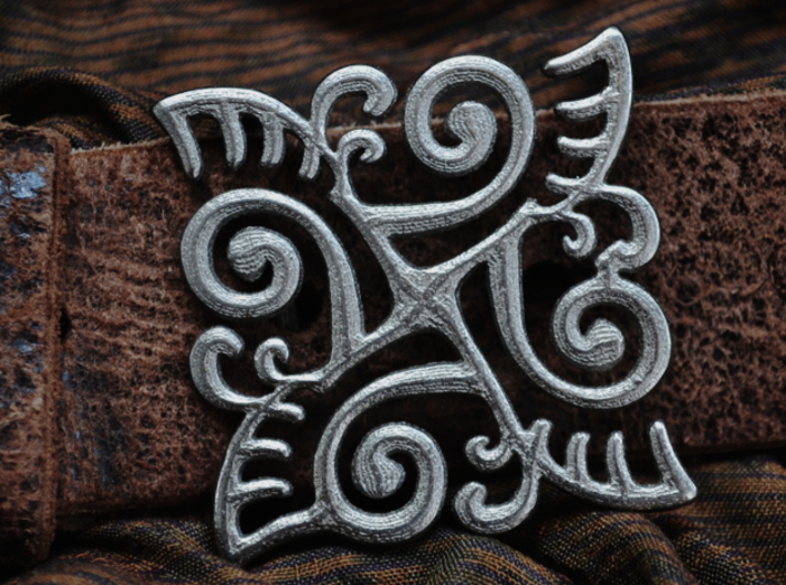 Ornate Belt Buckle  3d printed