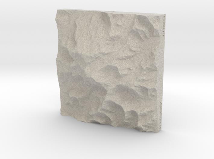 4'' Denali, Alaska, USA, Sandstone 3d printed