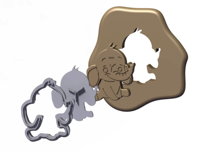 Cookie Cutter - Animal - Elephant 3d printed