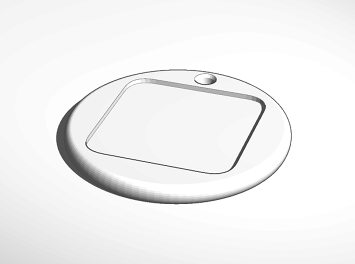 ^keychain tag round border emboss 3d printed External Render